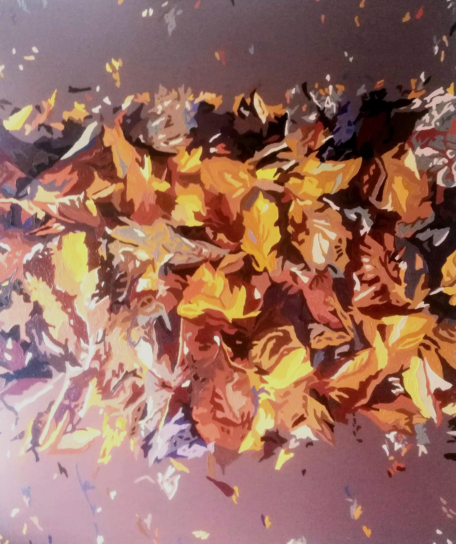 Efterårsblade - 110cmX120cm