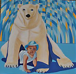 Polar Baby - 100cmX100cm