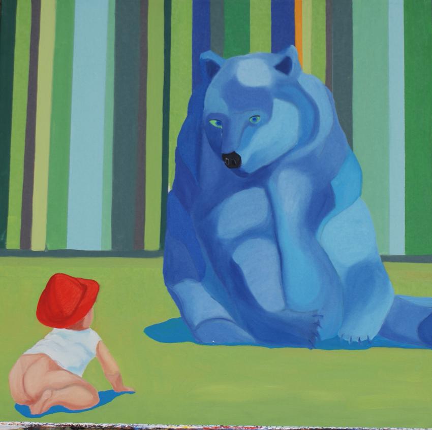 Blue Bear - 60cmX60cm