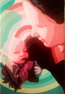 Mor og datter, 60x40 cm