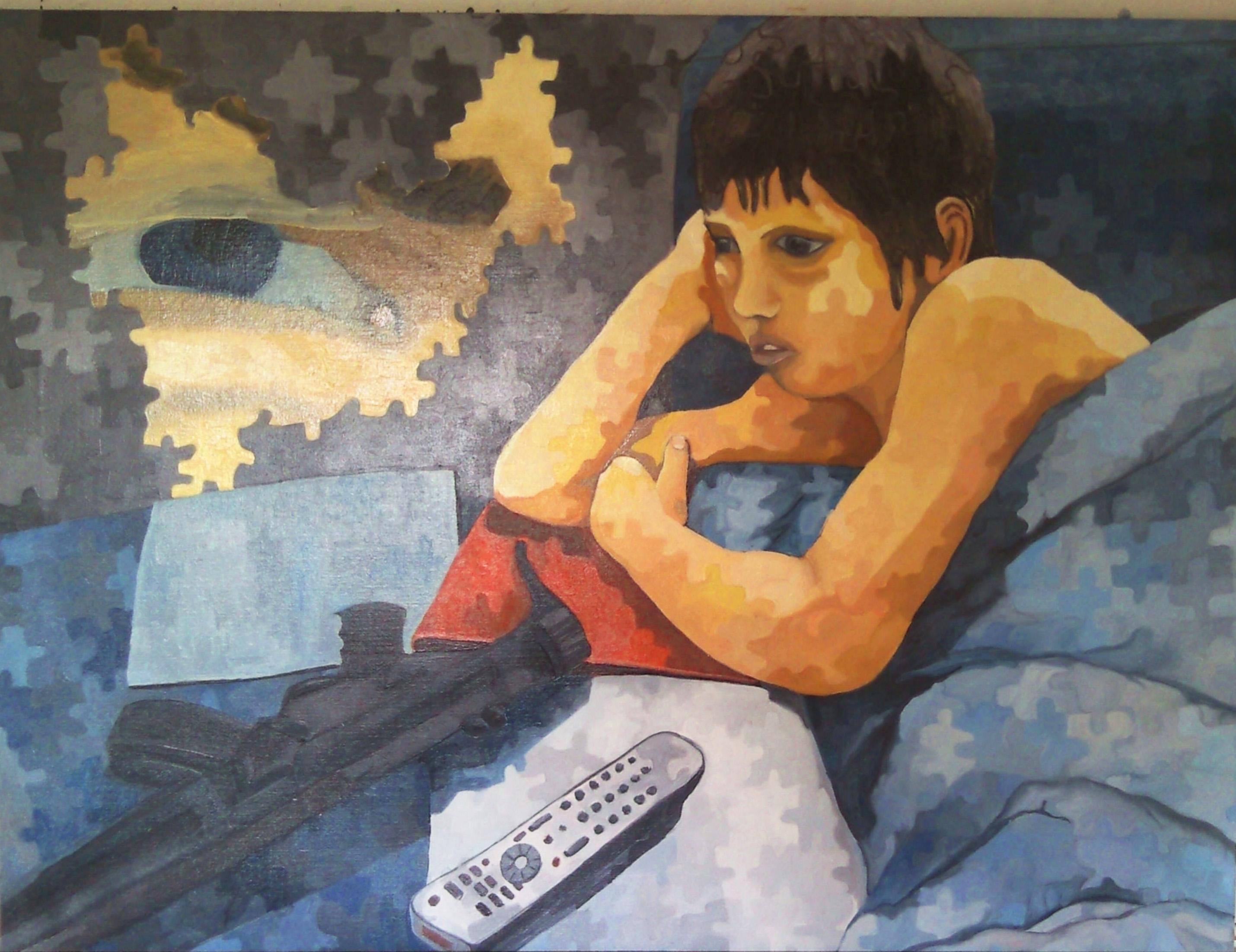Portræt af en Træt Unge 2 - 110X120