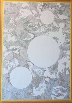 White Spots, 100 x 70 cm