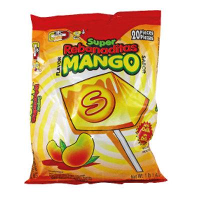 Super Rebanada mango lollipop with chilli powder  20ct