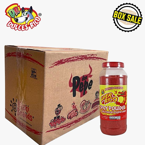 Box Super Rico Spicy Powder Food Service Jar 6 / 1.8 lb (850 g)