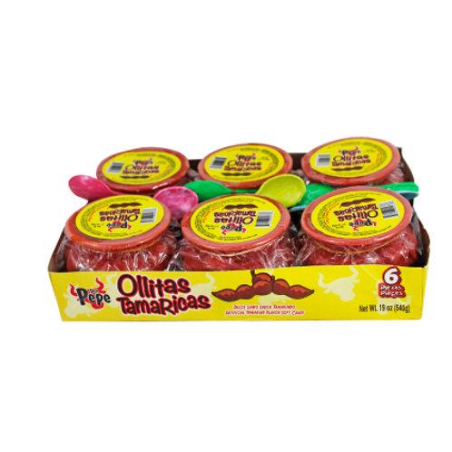 Don Pepe Ollitas Ricas Tamarind Flavor 6/90 g