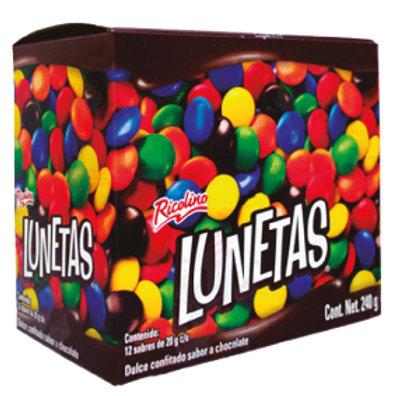 Lunetas coated chocolate 12ct