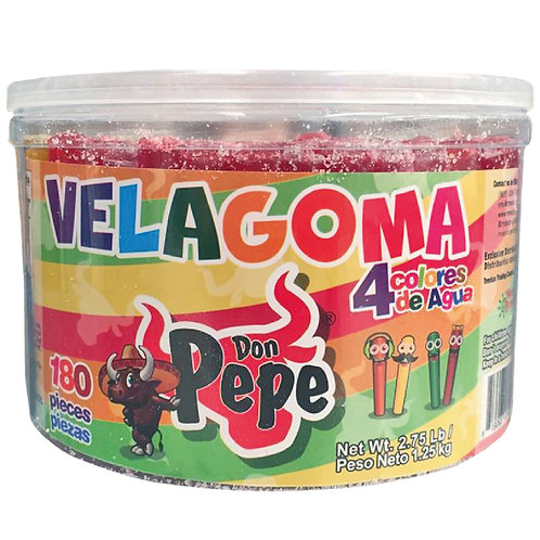 Don Pepe Velagoma gummy candy 4 colors 180 pieces