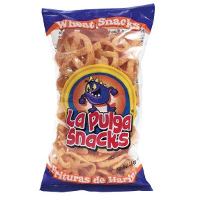 La Pulga Fritura de Harina Wheat Snack  Wheel  chili 3.5 oz