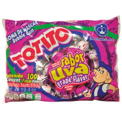 Totito Bubble Gum Grape 100 ct
