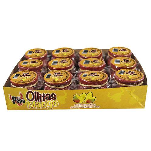 Don Pepe Mini Ollita Rica Mango Flavored Soft Candy 12ct
