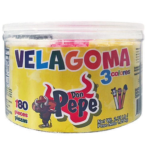 Don Pepe Velagoma gummy candy 3 colors 180 pieces