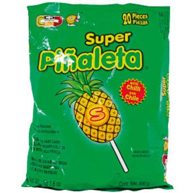Super Piñaleta pineapple lollipop with chilli powder 20ct