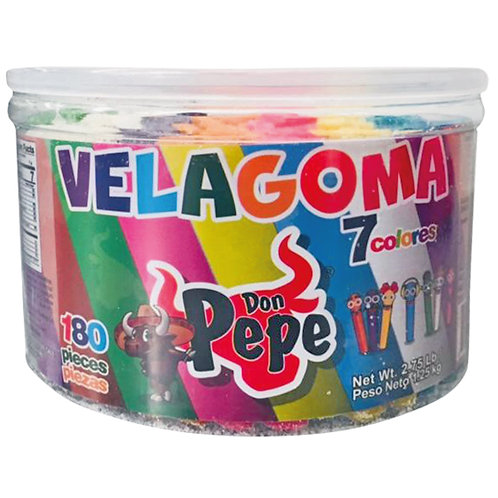 Don Pepe Velagoma gummy candy 7 colors 180 pieces