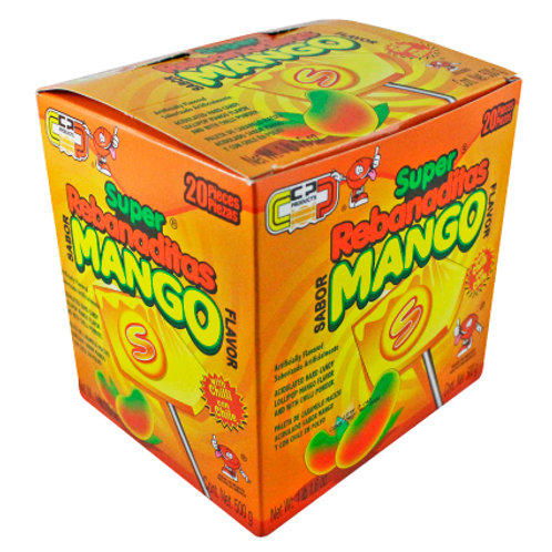 Super Rebanada Mango  lollipop with chilli powder 20units