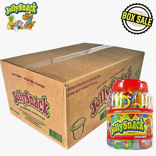 Box Jelly Snack Jelly Candy 6/100CT JAR