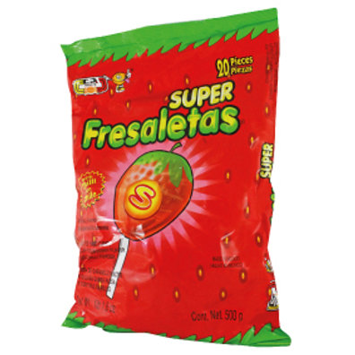 Super Fresaleta Strawberry lollipop with chilli powder 20ct