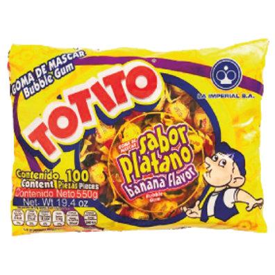 Totito Bubble Gum Banana 100pieces