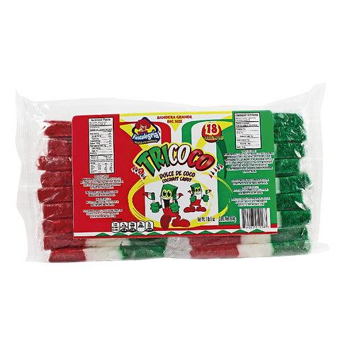 Fiestalegria Tricoco Coconut Candy big bar 18 units