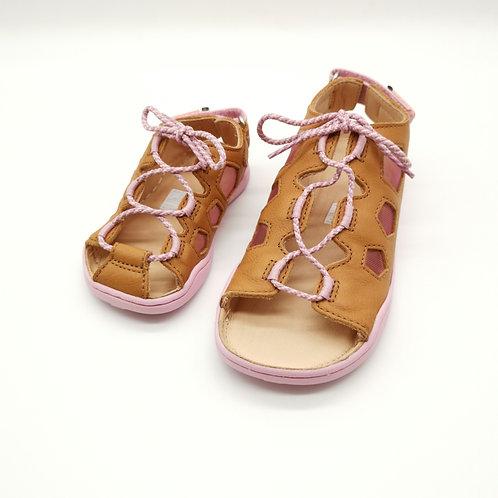 Affenzahn Cat Sandal Leather Brown/Pink