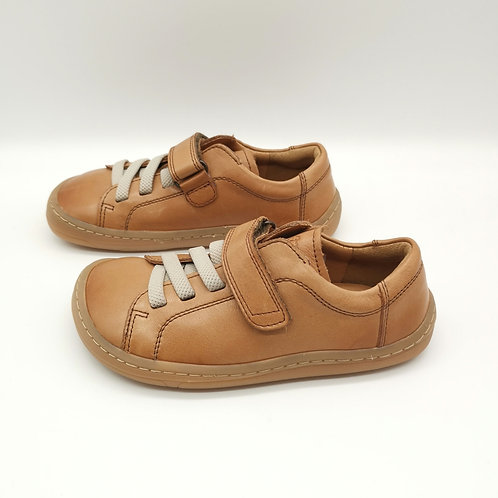 Froddo Barefoot Halbschuhe Brown Velcro/Elastiksenkel