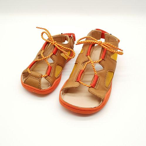 Affenzahn Lion Sandal Leather Brown/Orange