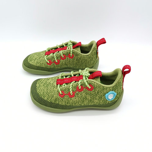 Affenzahn Dragon Lowcut Knit Lace Green/Red