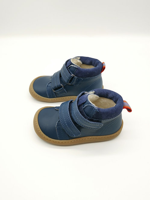 KOEL4KIDS Barefoot Winterschuhe Nappa Bio Blue