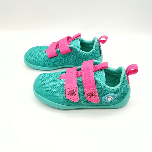 Affenzahn Owl Lowcut Knit Green/Pink