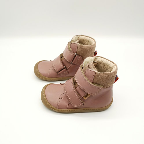 KOEL4KIDS Barefoot Winterstiefel Bio Tex Old Pink