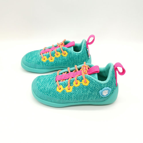Affenzahn Owl Lowcut Knit Lace Green/Pink