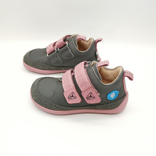 Affenzahn Koala Lowcut  Leather Grey/Pink