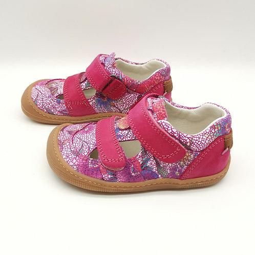 KOEL4KIDS Barefoot Sandale - Fuchsia Flowers