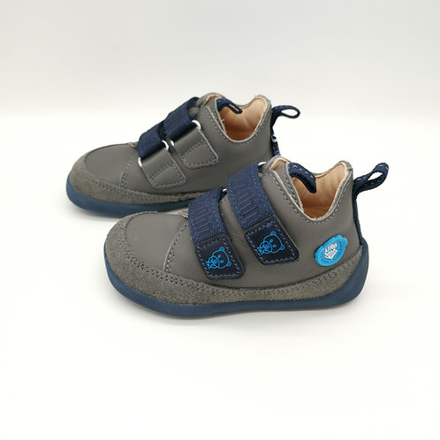 Affenzahn Bear Lowcut  Leather Grey/Blue