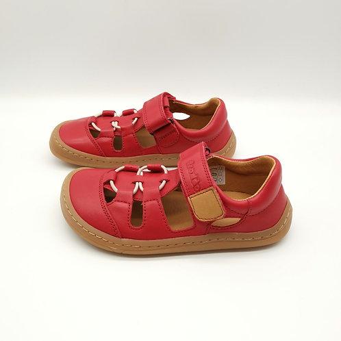 Froddo Barefoot Sandalen Red Velcro/Elastiksenkel