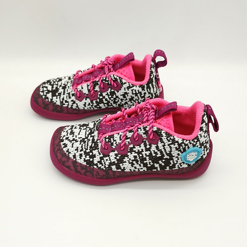 Affenzahn Flamingo Lowcut Knit Lace Black/White/Pink