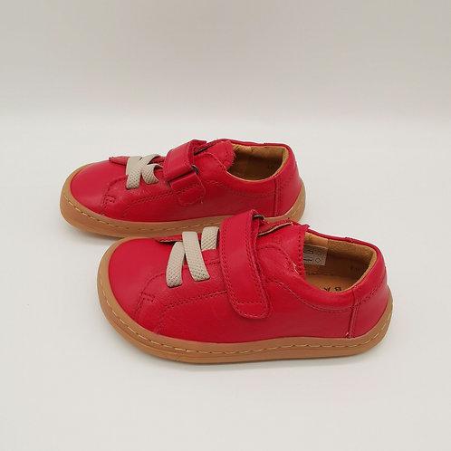 Froddo Barefoot Halbschuhe Red Velcro/Elastiksenkel
