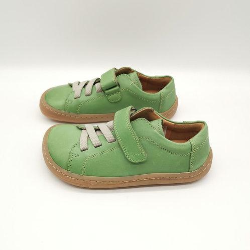 Froddo Barefoot Halbschuhe Olive Velcro/Elastiksenkel