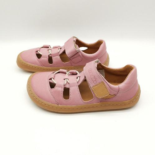 Froddo Barefoot Sandalen Pink Velcro/Elastiksenkel