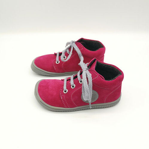 Filii Gecko Laces Velours Pink Fleece & Reflector