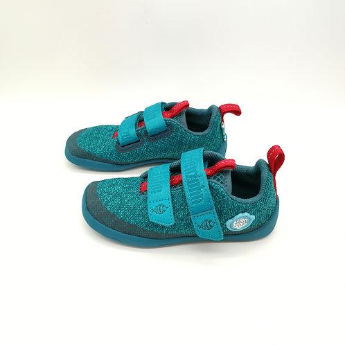 Affenzahn Shark Lowcut Knit Blue/Red