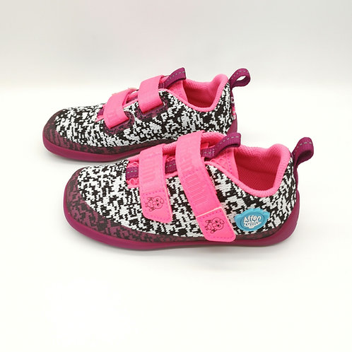 Affenzahn Flamingo Lowcut Knit Black/White/Pink