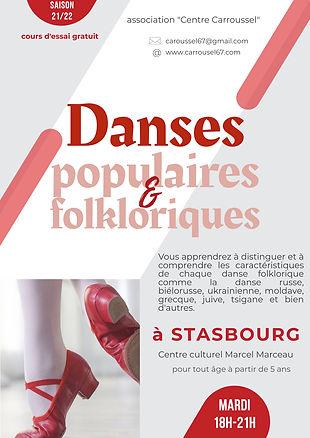afiche Danse populaires et folkloriques