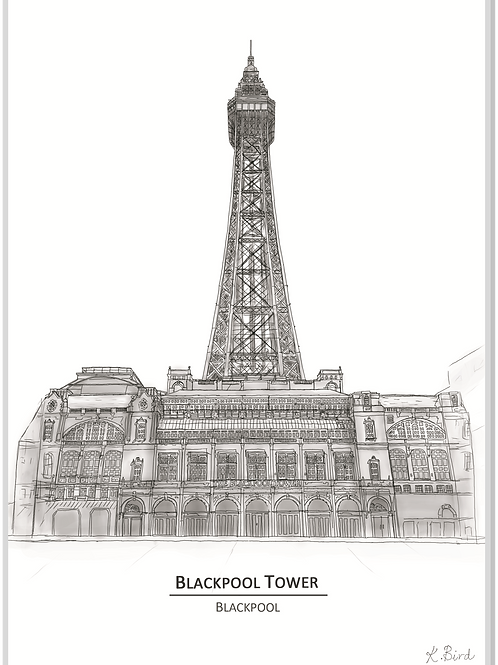 Blackpool Tower A4 Print