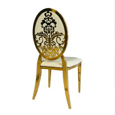 Saah Gold Chair_ Available in White and
