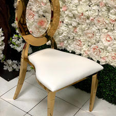 LaBelle Gold chair_ Available in White,