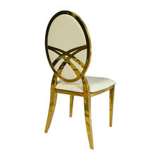 Renee Gold Chair: Available in white and red