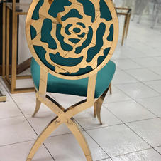 Green Rose back Chairs