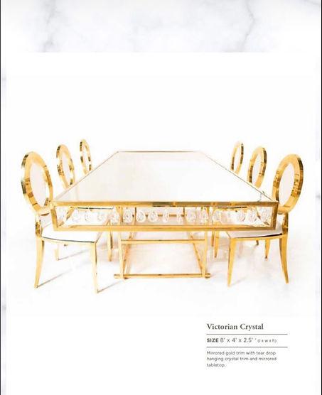 Christelle  Crystal Estate Table