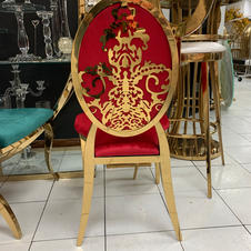 Sasha gold chair in Red