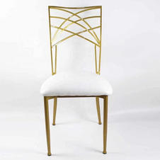Nadine Gold chairs_ Available in White,
